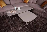 Стол журнальный современный дизайнерский Lyon S (Лион С), мокко МДФ 18 мм, каркас металл, выкрашенный в цвет с
