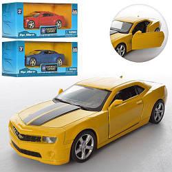 Машинка TOP 306 (96шт) металл, инер-я, 1:38,12см, открываются двери,3цв,в кор-ке,16-7,5-7см