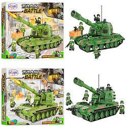 Конструктор 1311-1314 (16шт) военный, танк, фигурки, 533дет, 2 вида, в кор-ке, 47-37,5-6,5
