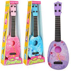 Гитара S-B19 (72шт) 43см, струны 4шт, медиатор, 3вида, в кор-ке, 16,5-48,5-5,5см