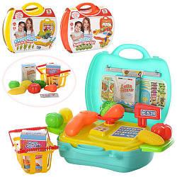 Магазин MJX8015-7016-6015 (48шт) от 22дет, 3 вида (продукты, посуда), в чемодане, 24-22-10,5см