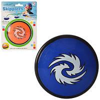 Игра спортивная M 3014 (48шт) блинчик прыгает по воде, 10,5см, 2 цвета, на листе, 15-21-2см