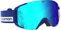 Горнолыжная маска Salomon Goggles xview blue white/solar blue (MD)