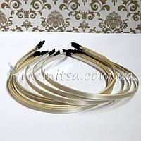 Ободок для волос с кремовой атласной лентой, 6 мм