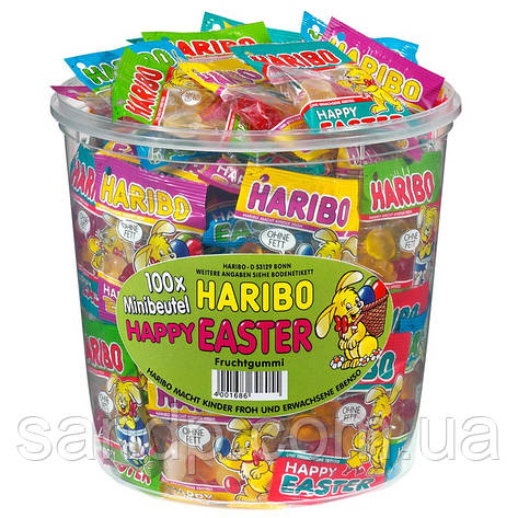 Счастливой Пасхи! Харибо Haribo 980 гр 100 шт, фото 2