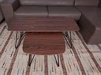 Стол журнальный современный дизайнерский Lyon S (Лион С), орех МДФ 18 мм, каркас металл, выкрашенный в цвет с