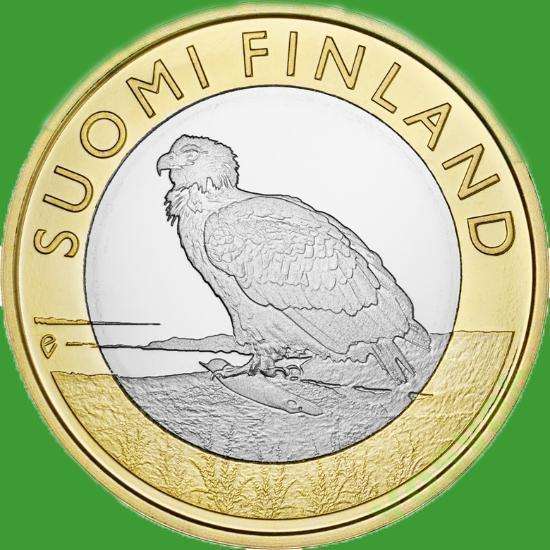 Фінляндія 5 євро 2014 р. Провінція Аланди - орел.