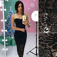 Нарядное платье корсет с гипюром (разные цвета)