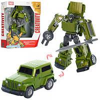 Трансформер J8001-2  18см, робот-машина, оружие, в кор-ке, 27,5-31,5-12см