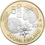 Фінляндія 5 євро 2014 р. Північна природа - сосни., фото 2