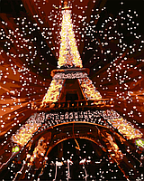 """Картина по номерам """"Ночь в Париже"""" 40*50см"""