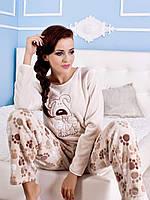 Теплая флисовая пижама с собакой Ecru