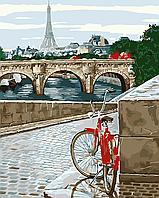 """Картина по номерам """"Прогулка по Парижу"""" 40*50см"""