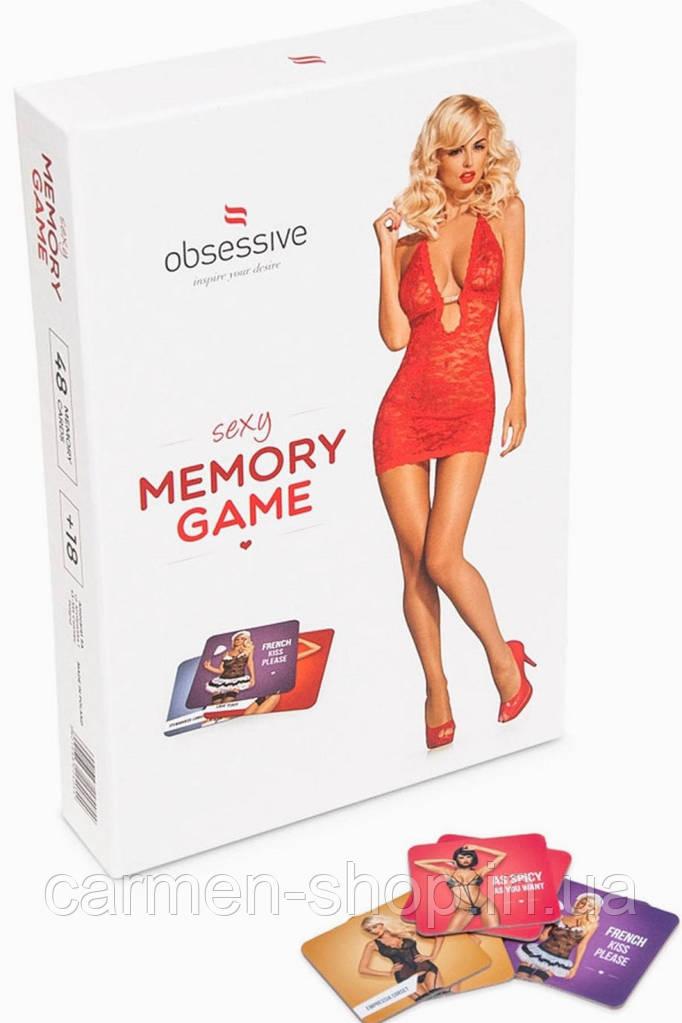 Набор карт для сексуальных игр Gra Memo Obsessive