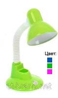 Настольная лампа с подставкой для ручек - зеленая