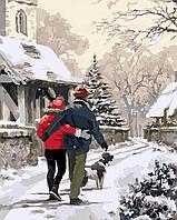 """Картина по номерам """"Зимняя прогулка"""""""