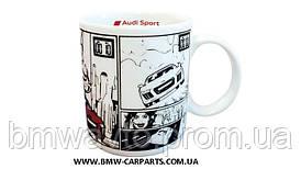 Фарфоровая кружка Audi Sport Porcelain Mug, R8 Comic Series