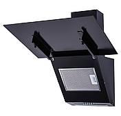 Кухонная вытяжка наклонная черная Ventolux MIRROR 60 BK (750) PB, фото 3
