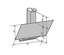 Вытяжка для кухни наклонная бежевая Ventolux MIRROR 60 IVORY (750) PB, фото 3