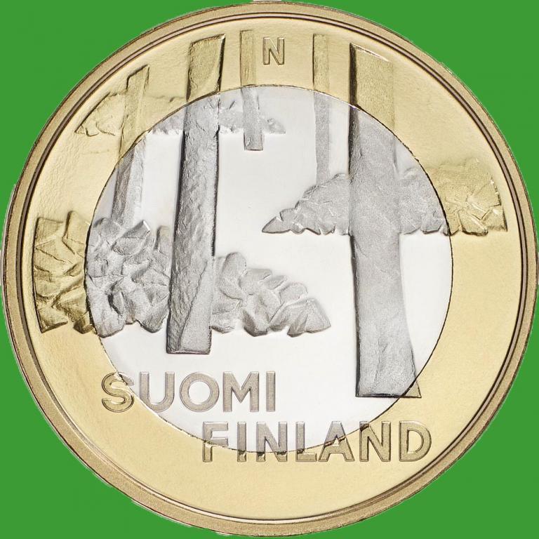 Финляндия 5 евро 2013 г. Архитектура провинций - Сатакунта.