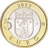 Финляндия 5 евро 2013 г. Архитектура провинций - Сатакунта., фото 2