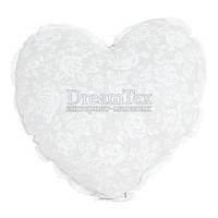 """Прихватка Серце с кружевом Прованс """"White Rose"""" 28х28 см (003706)"""