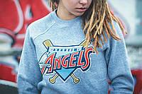 Свитшот теплый Liberty Anaheim Angels Grey