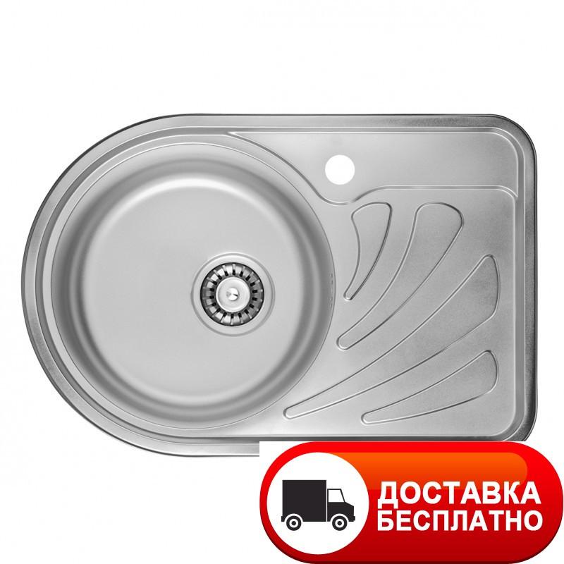 Кухонная мойка ULA 7111 ZS Satin 08 (L) (мойка 6744 нерж.)