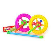 Каталка 189 A (96шт) колесо, на палке, в кульке, 26-24-4см