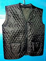 Безрукавка теплая женская черная - полушерсть