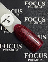 Гель-лак FOCUS premium №003 (винный, микроблеск), 8 мл