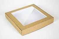 """Коробка """"Пряникове"""" М0044-о8 крафт, розмір: 200*200*30 мм"""