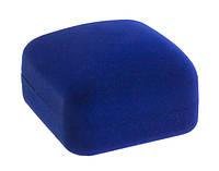 Футляр бархатный Классика квадрат  синий 12 шт
