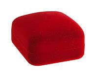 Футляр бархатный Классика квадрат красный 12 шт