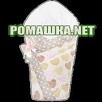 Демисезонный конверт-плед на выписку верх, подкладка 100% хлопок утеплитель холлофайбер 90х90 2910ДМ Розовый 3