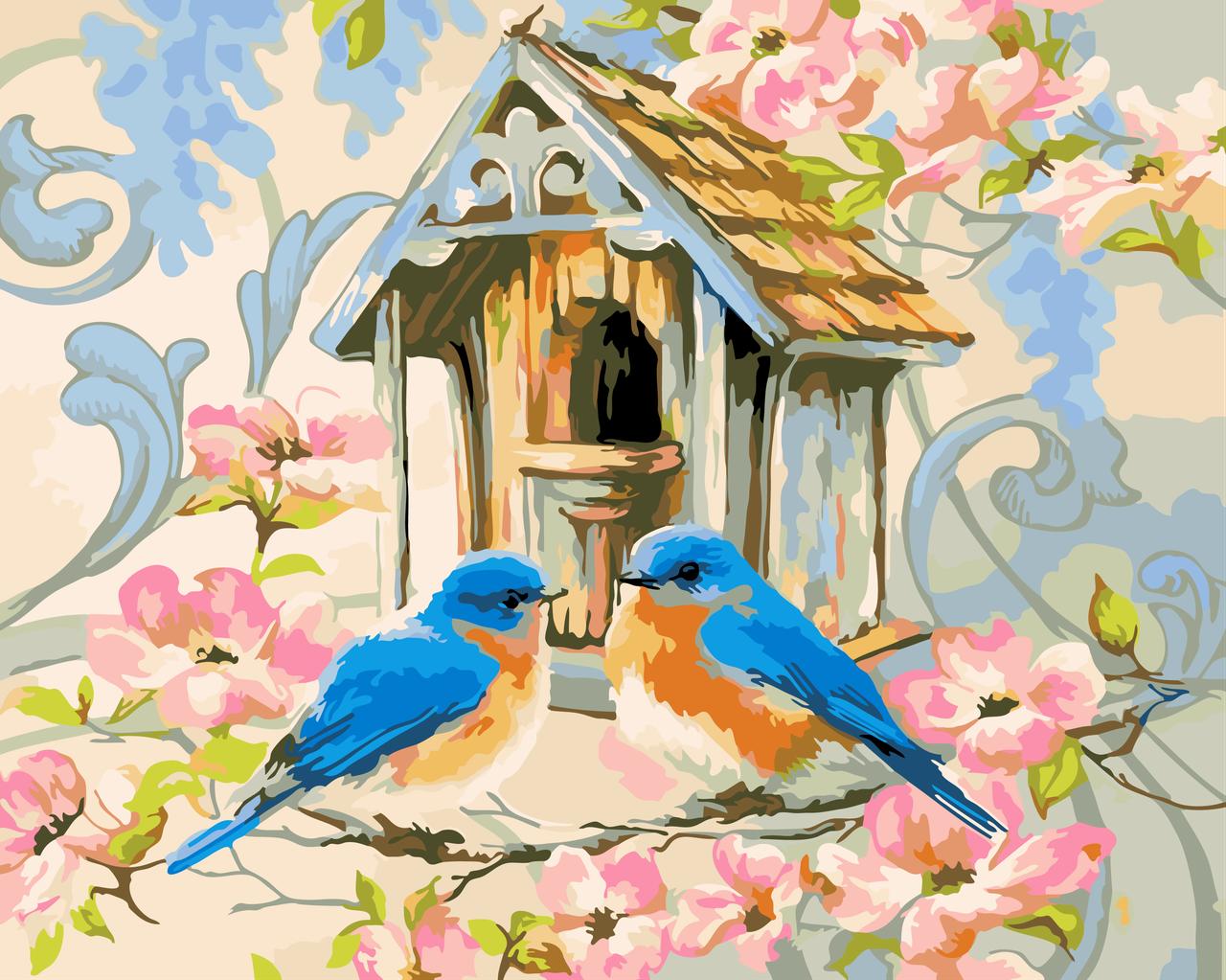 """Картина по номерам """"Птичкин дом"""" 40*50см"""