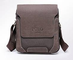 ТОП Качество! POLO Videng 19х22х7,5 Мужская сумка на плечо | Oksford , сетка
