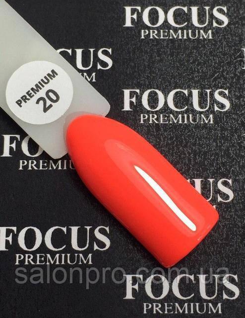Гель-лак FOCUS premium №020 (ярко-коралловый, эмаль), 8 мл