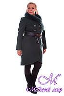Женское кашемировое зимнее пальто больших размеров арт. Кураж донна песец - 4089