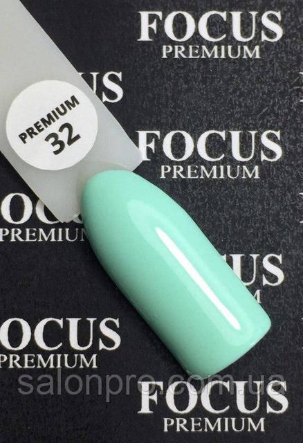 Гель-лак FOCUS premium №032 (мятный, эмаль), 8 мл