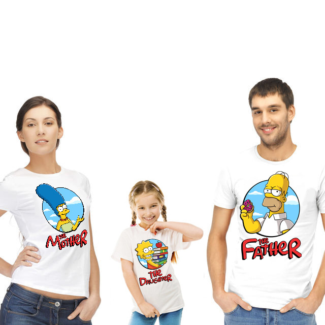 """Футболки для всієї родини """"The Simpsons/Сімпсони"""""""