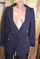 Пиджак женский удлинённый на 1 пуговице молочный
