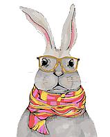 """Картина по номерам """"Белый кролик"""""""
