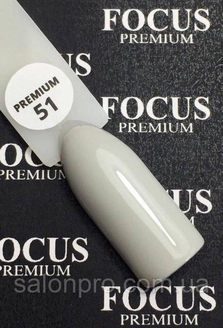 Гель-лак FOCUS premium №051 (серый, эмаль), 8 мл