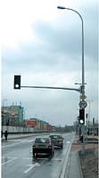 Алюминиевые опоры Rosa для дорожных знаков с вылетом