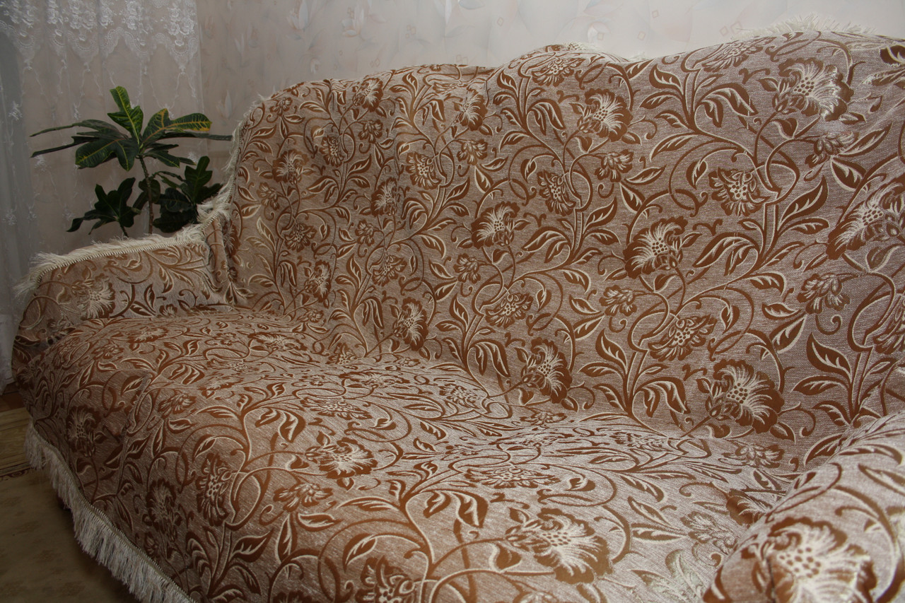 Орхидея с белым комплекты на диван и два кресла ( дивандеки) полутороспальные