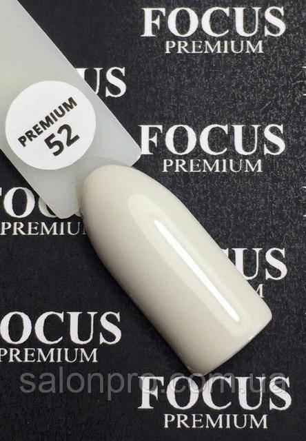 Гель-лак FOCUS premium №052 (светло-серый, эмаль), 8 мл