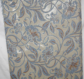 Орхідея блакитна комплекти на диван і два крісла ( дивандеки) півтораспальні, фото 2