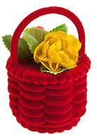 Футляр бархатный Корзинка с цветами 12 шт