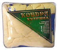 """Одеяло евро размера из овечьей шерсти """"Лери Макс"""" - синий цвет"""